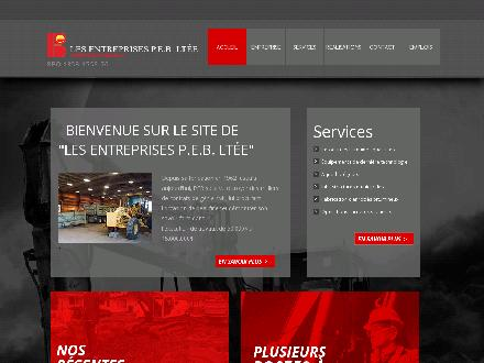 Entreprises P E B Lt&eacute;e (Les) (418-849-2841) - Onglet de site Web - http://entpeb.ca