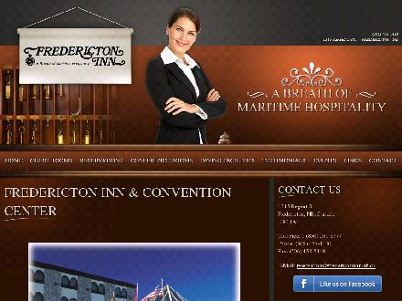 Fredericton Inn (1-877-562-9650) - Onglet de site Web - http://www.frederictoninn.nb.ca