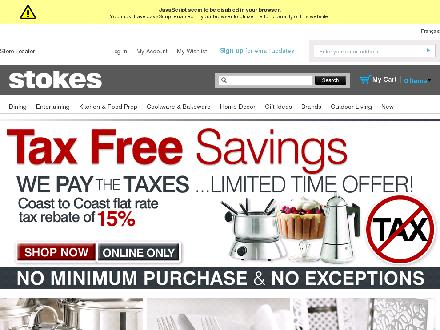 Stokes - London (519-649-2788) - Website thumbnail - http://www.stokesstores.com/