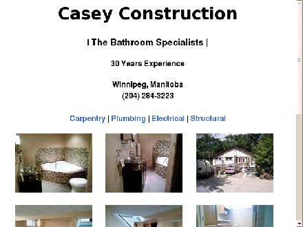 Casey Construction (204-284-3223) - Onglet de site Web - http://www.caseyconstruction.ca