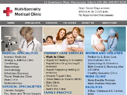 Advanced Walk-In Multi Specialty Clinic (905-897-9228) - Onglet de site Web - http://www.walkinwalkin.com