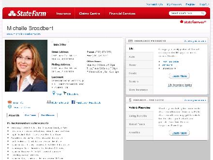 Broadbent, Michelle - State Farm Insurance Agent (780-470-3276) - Website thumbnail - http://STATEFARM.MQGROUP.COM/URL.ASP?u=613161