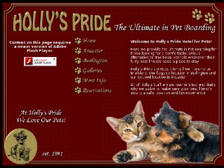 Holly's Pride-Hotel For Pets (905-336-8494) - Website thumbnail - http://www.hollys-pride.com
