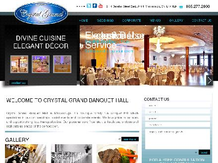 Crystal Grand Banquet Hall & Conference (905-277-2800) - Onglet de site Web - http://www.crystalgrand.ca