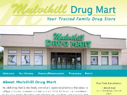 Mulvihill Drug Mart (613-735-1079) - Onglet de site Web - http://www.mulvihilldrugmart.com