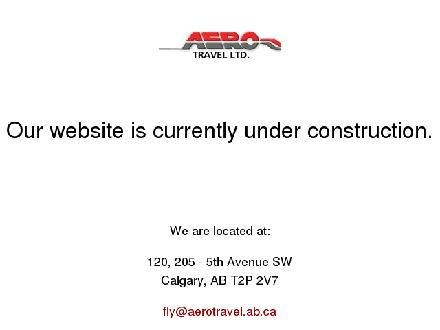 Aero Travel Ltd (403-261-6600) - Onglet de site Web - http://www.aerotravel.ab.ca