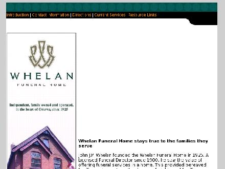 Whelan Funeral Home (613-233-1488) - Website thumbnail - http://www.whelanfuneralhome.ca