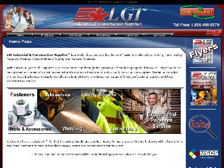 LGI Industrial & Construction Supplies (780-484-0911) - Onglet de site Web - http://www.lgindustrial.com