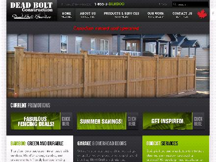 Dead Bolt Construction (403-952-6266) - Onglet de site Web - http://www.dead-bolt.ca