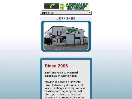 Landmark Self Storage Inc (780-454-0893) - Onglet de site Web - http://www.landmarkstorage.ca