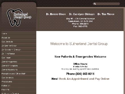 Sutherland Dental Group (306-955-8011) - Onglet de site Web - http://www.sutherlanddental.ca