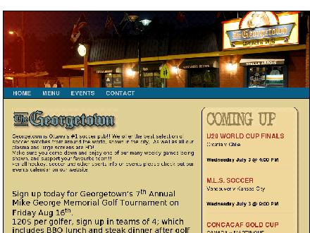 Georgetown Sports Pub (613-731-9191) - Website thumbnail - http://www.georgetownpub.ca