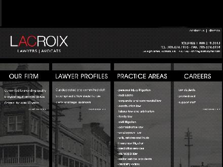 Lacroix Lawyers-Avocats (705-674-1976) - Website thumbnail - http://www.sudburylaw.com