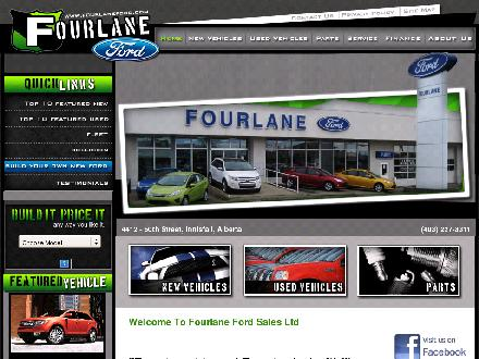 Fourlane Ford Sales Ltd (403-406-0256) - Onglet de site Web - http://www.fourlaneford.com