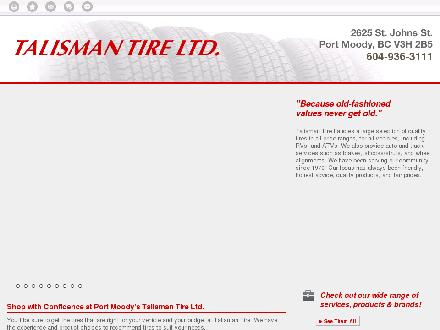 Talisman Excel Tire &amp; Align Centre (604-936-3111) - Website thumbnail - http://talismantire.ca