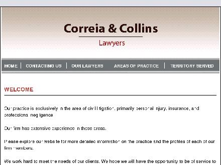 Correia &amp; Collins (1-877-350-6833) - Onglet de site Web - http://www.correiaandcollins.com