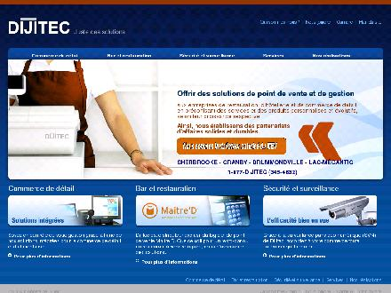 Caisses Enregistreuses Dijitec Inc (450-372-2244) - Website thumbnail - http://www.dijitec.com