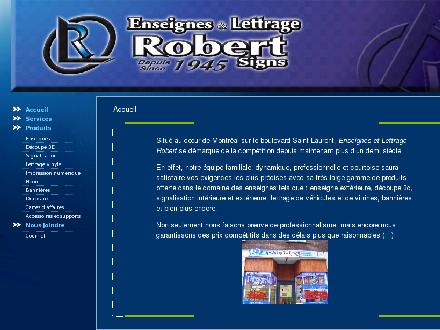 Enseignes et Lettrage Robert (1945) (514-279-8491) - Website thumbnail - http://www.lettragerobert.com