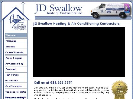 J D Swallow Heating Contractors Inc (613-822-7974) - Website thumbnail - http://www.jdswallow.com
