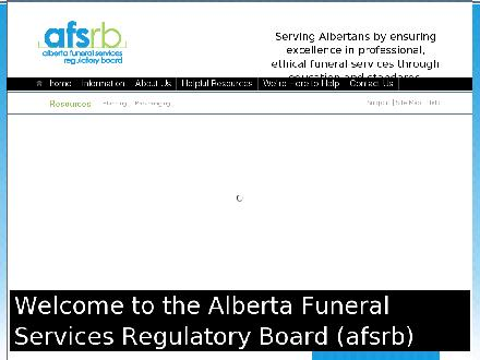 Alberta Funeral Services Regulatory Board (780-452-6130) - Onglet de site Web - http://www.afsrb.ab.ca