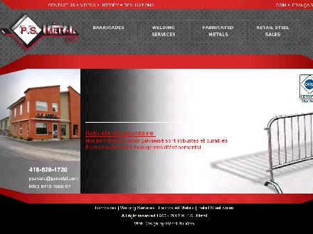 PS Metal Inc (418-626-1720) - Onglet de site Web - http://WWW.PSMETAL.COM