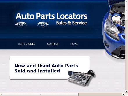 Auto Parts Locators Sales & Service (613-837-7480) - Onglet de site Web - http://www.aautopartslocators.com