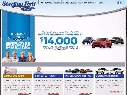 Sterling Ford (613-741-3720) - Onglet de site Web - http://www.sterlingford.ca