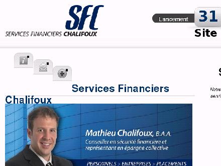 Services Financiers Chalifoux (450-813-4777) - Onglet de site Web - http://www.sfchalifoux.ca