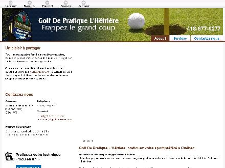 Golf De Pratique L'H&ecirc;tri&egrave;re (418-877-9277) - Onglet de site Web - http://golflhetriere.com