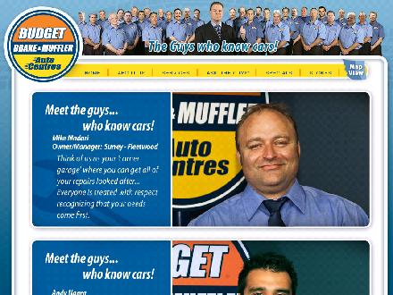Budget Brake &amp; Muffler Auto Centres - Onglet de site Web - http://www.budgetbrake.com