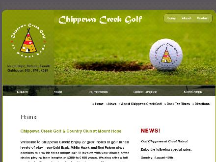 Chippewa Creek Golf & Country Club (905-679-4240) - Onglet de site Web - http://www.chippewacreekgolf.com
