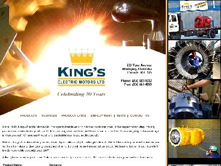 King's Electric Motors Ltd (204-663-5332) - Onglet de site Web - http://www.kingselectric.com