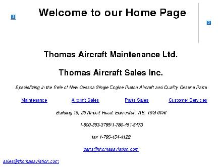 Thomas Aircraft Maintenance Ltd (780-451-5473) - Website thumbnail - http://www.thomasaviation.com