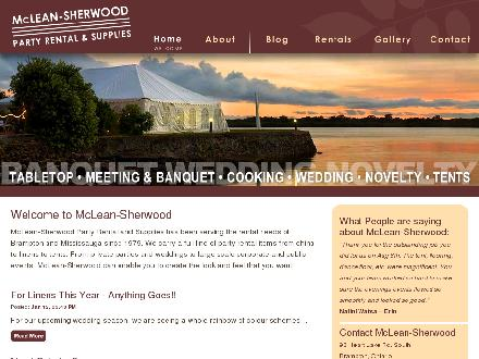 McLean-Sherwood Event Rental (289-201-1198) - Onglet de site Web - http://www.mcleansherwood.com