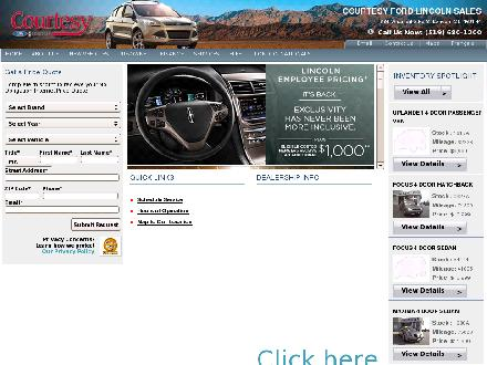Courtesy Ford Lincoln Sales Limited (519-680-1200) - Onglet de site Web - http://www.courtesyfordlincoln.com