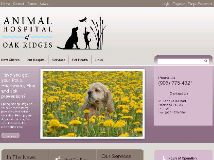Animal Hospital Of Oak Ridges (905-773-4321) - Website thumbnail - http://www.ahor.ca