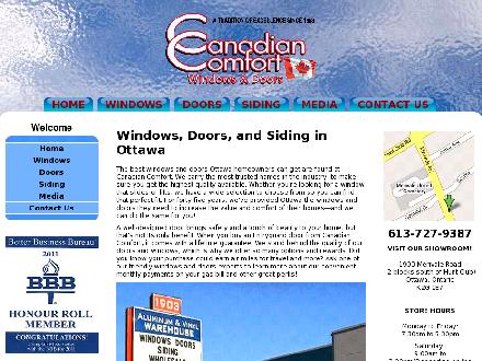 Canadian Comfort (613-727-9387) - Website thumbnail - http://www.canadiancomfort.com