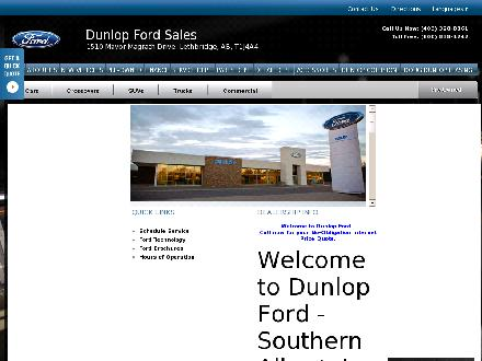 Dunlop Ford Sales Ltd (403-328-8861) - Onglet de site Web - http://www.dunlopford.com