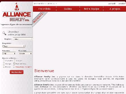 Alliance Realty Inc (506-735-1850) - Onglet de site Web - http://www.alliancerealty.nb.ca