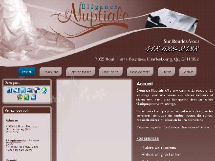 El&eacute;gance Nuptiale (418-628-2438) - Onglet de site Web - http://www.elegancenuptiale.COM