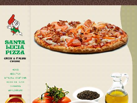 Santa Lucia Pizza (204-515-1482) - Onglet de site Web - http://www.santaluciapizza.com