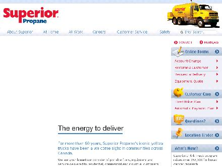 Superior Propane (1-877-873-7467) - Website thumbnail - http://www.superiorpropane.com