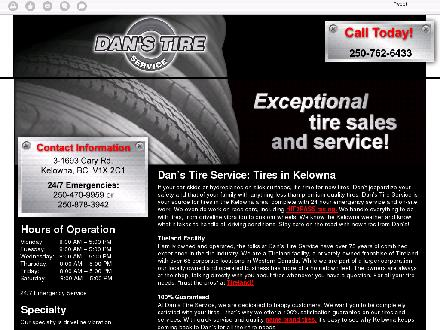 Dan's Tire Service (250-980-0727) - Onglet de site Web - http://danstireservices.com/