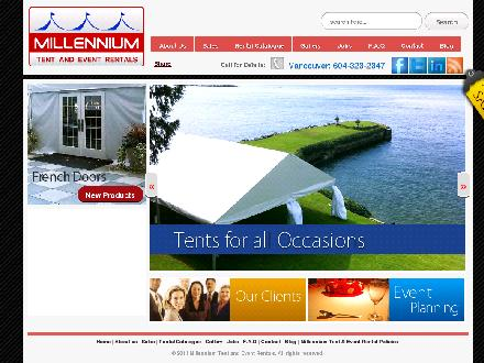 Millennium Tent & Party Rentals Ltd (604-323-2347) - Website thumbnail - http://www.millenniumtents.com