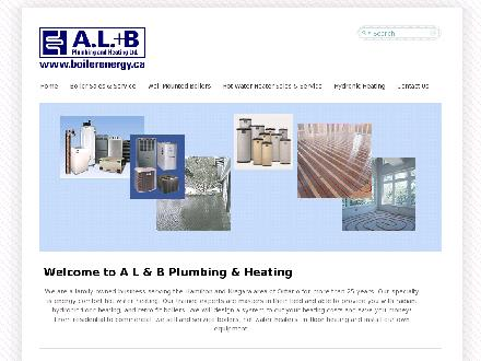 AL & B Plumbing & Heating (905-528-8026) - Website thumbnail - http://www.boilerenergy.ca