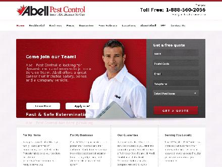 Abell Pest Control (519-966-4565) - Website thumbnail - http://www.abell.ca