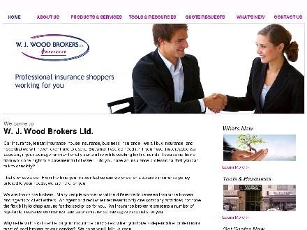 Wood W J Brokers (613-845-1265) - Website thumbnail - http://www.woodbrokers.ca