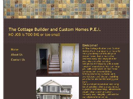 The Cottage Builder & Custom Homes (902-626-5567) - Onglet de site Web - http://www.thecottagebuilderandcustomhomespei.com
