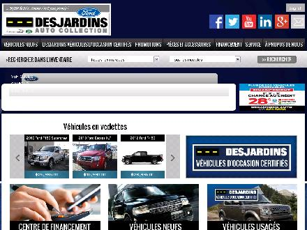 Desjardins Auto Collection (418-683-4451) - Onglet de site Web - http://www.autocollectiondequebec.com