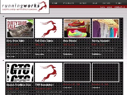 The Running Works (519-763-8033) - Onglet de site Web - http://www.therunningworks.com